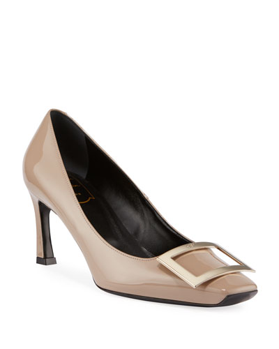 Belle Patent Buckle Pumps