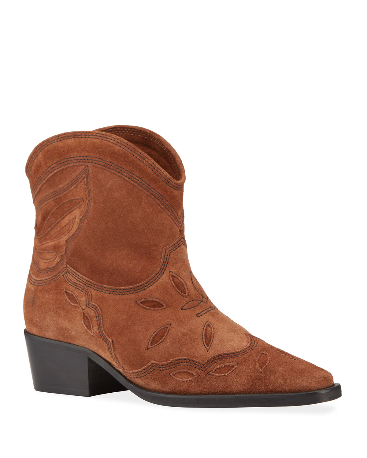 Ganni Boots TEXAS WESTERN LOW BOOTIES