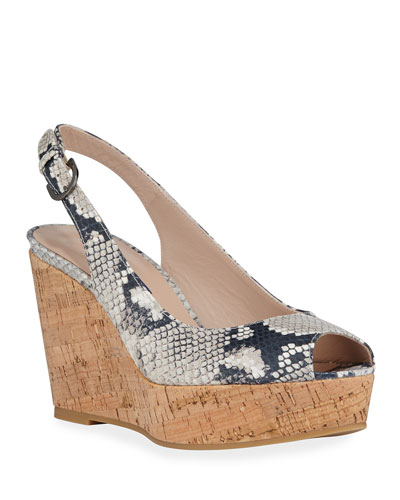 Jean Slingback Wedge Sandals