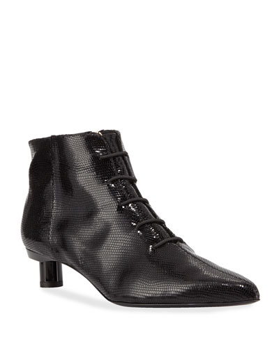 Joe Snake-Embossed Ankle Booties, Black