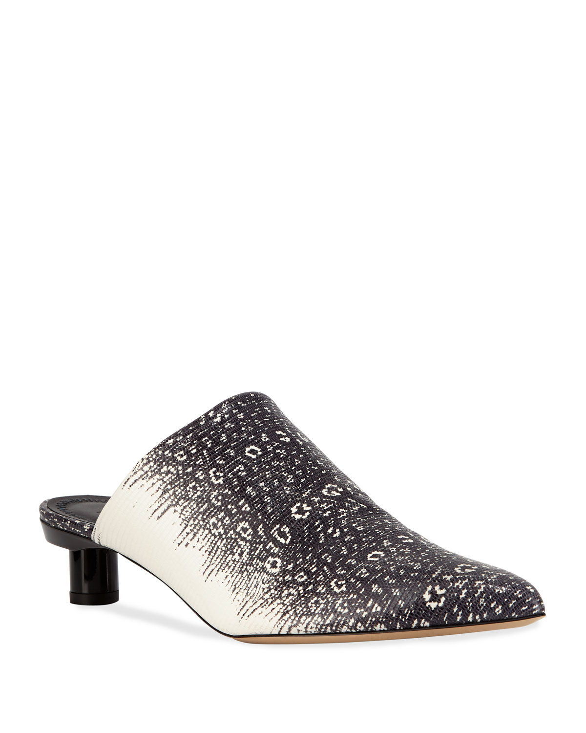 Tibi Mules JUAN LIZARD-EMBOSSED LEATHER MULES