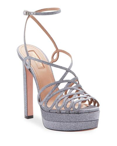 Monroe Plateau Glittered Platform Sandals