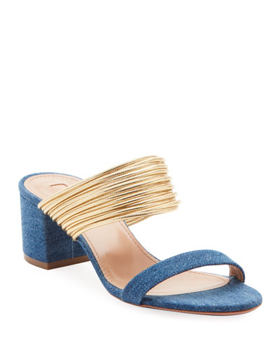 Rendez Vou Strappy Denim Sandals