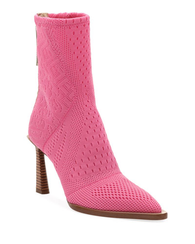 Stretch-Knit High Booties