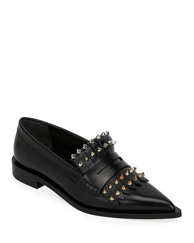 Kiltie Loafers with Spikes