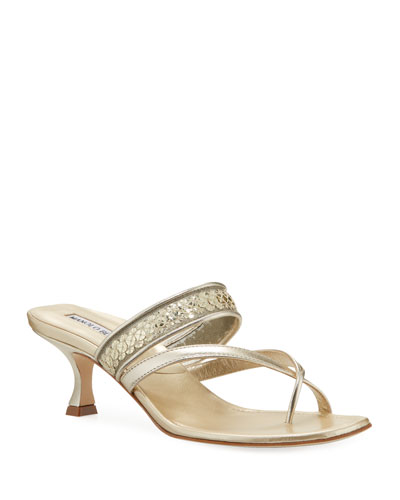 Susa Metallic Slide Sandals