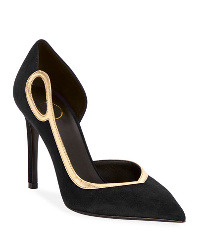 Miley Suede Asymmetric Pumps