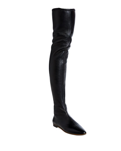 Napa Leather Over-The-Knee Boots