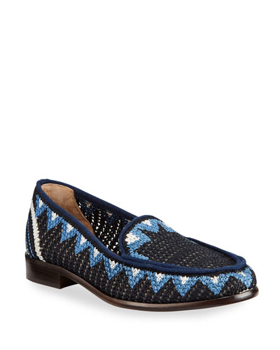 Blakie Sol Woven Loafers, Navy