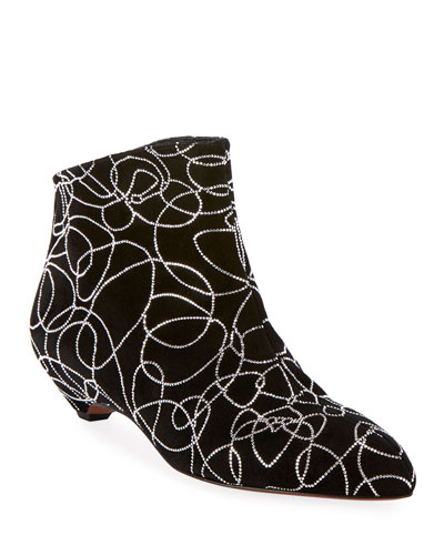 Chamois Nuage Crystal Swirl Ankle Booties
