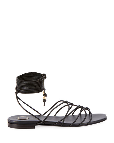 Mia Flat Strappy Ankle Sandals