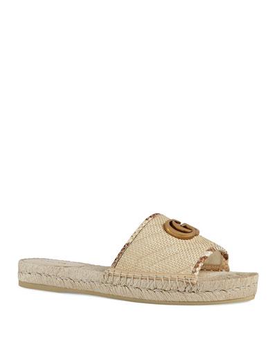 Pilar Straw Espadrille Sandals