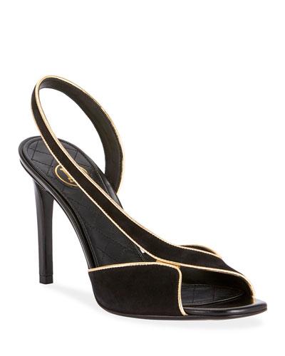 Macy Suede Slingback Sandals