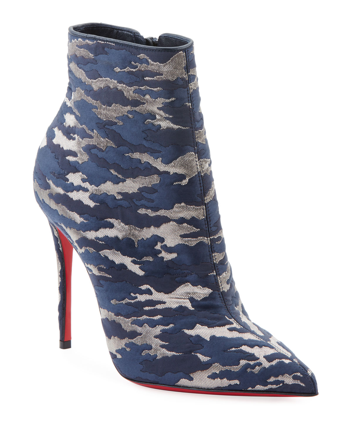 0bf3e120038 So Kate Camo Red Sole Booties in Blue Pattern