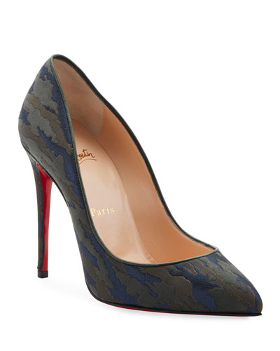 Pigalle Follies Camo Red Sole Pumps