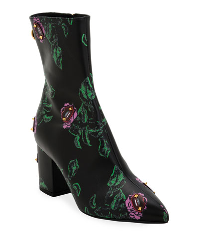 Ringstud Undercover Floral Booties