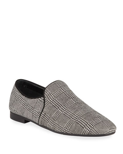 Revy Plaid Fabric Flat Loafers