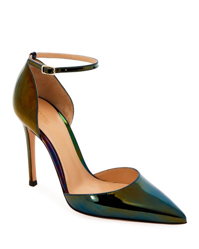 Patent holographic d'Orsay Ankle Pumps