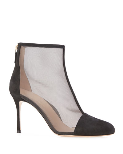 Dolby Suede and Mesh Booties