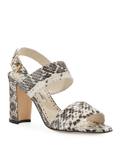 Khan Snakeskin Sandals