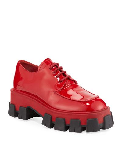Red Lace Up Shoes | bergdorfgoodman.com