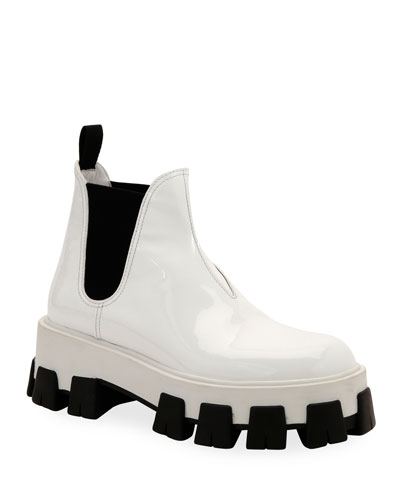 Patent Leather Platform Boots
