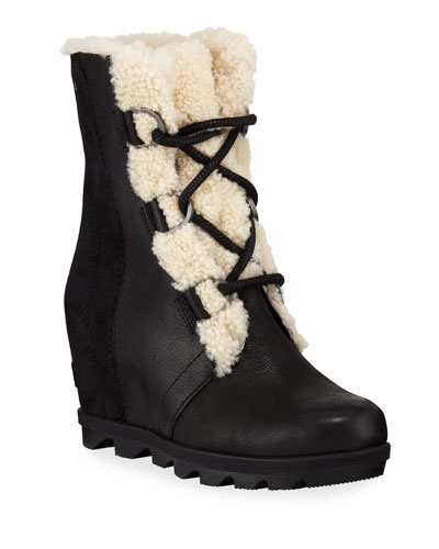 Joan of Arctic Wedge II Waterproof Boots with Shearling Fur