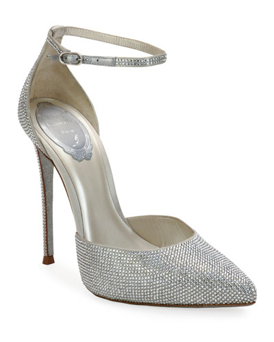 Pointed-Toe Crystal Pumps