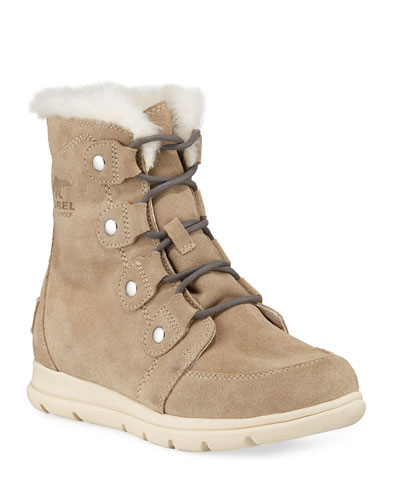 Explorer Joan Lace-Up Waterproof Suede Boots