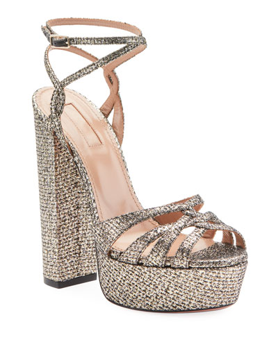 Veranda Platform Metallic Sandals