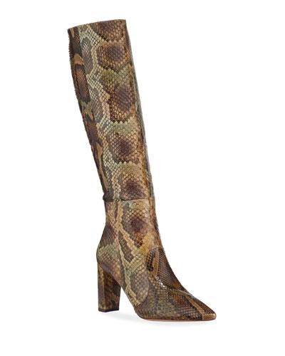Elisa Exotic Knee Boots