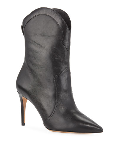Esther Leather Pointed Boots