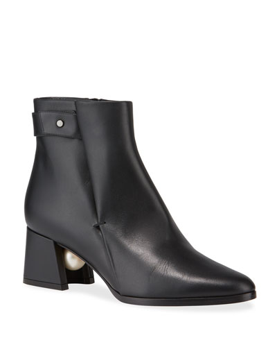 Miri Leather Ankle Boots