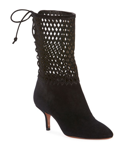 Chamoise Laser-Cut Booties