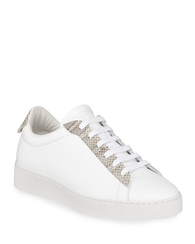 Congo Calf Sneakers with Snake Trim