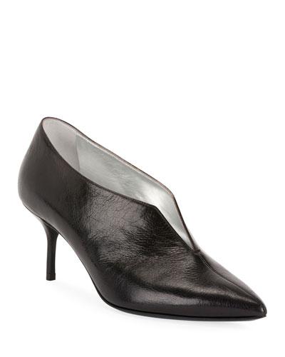 Secret Leather Ankle Pumps