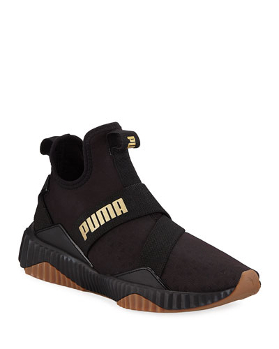 Defy Mid-Top Nylon Trainer Sneakers