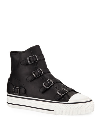 Virgin Leather Buckle Sneakers