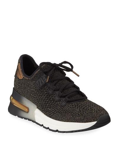 Krush Bis Mesh Sneakers, Black/Gold