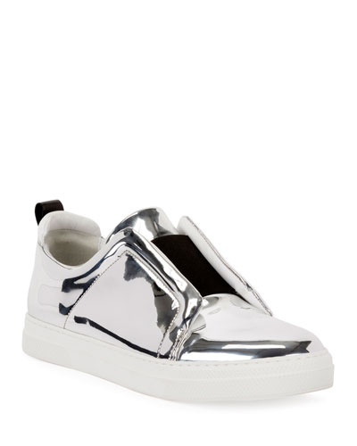 Slider Mirrored Low-Top Sneakers
