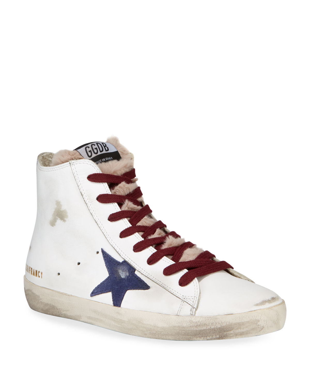 Golden Goose Sneakers FRANCY LEATHER HIGH-TOP SNEAKERS