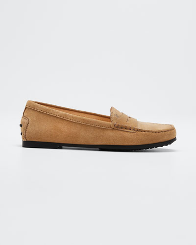 City Gommini Suede Penny Loafers