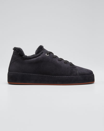 Winter Nauges Cashmere Fur-Lined Sneakers