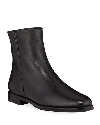 Calfskin Side-Zip Booties