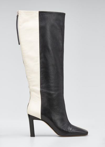 Isa Long Zip Leather Boots