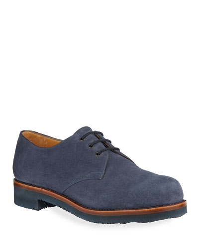 Lace-Up Suede Oxfords