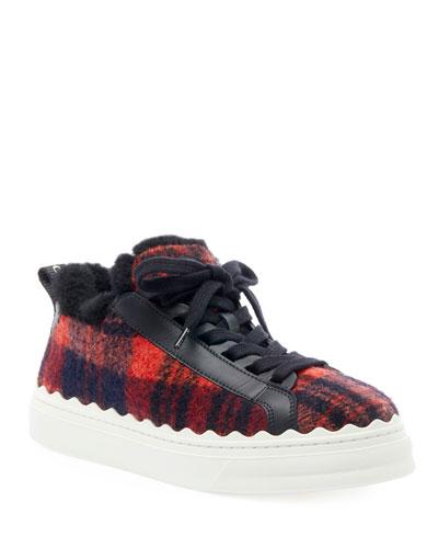 Lauren Plaid Wool Sneakers