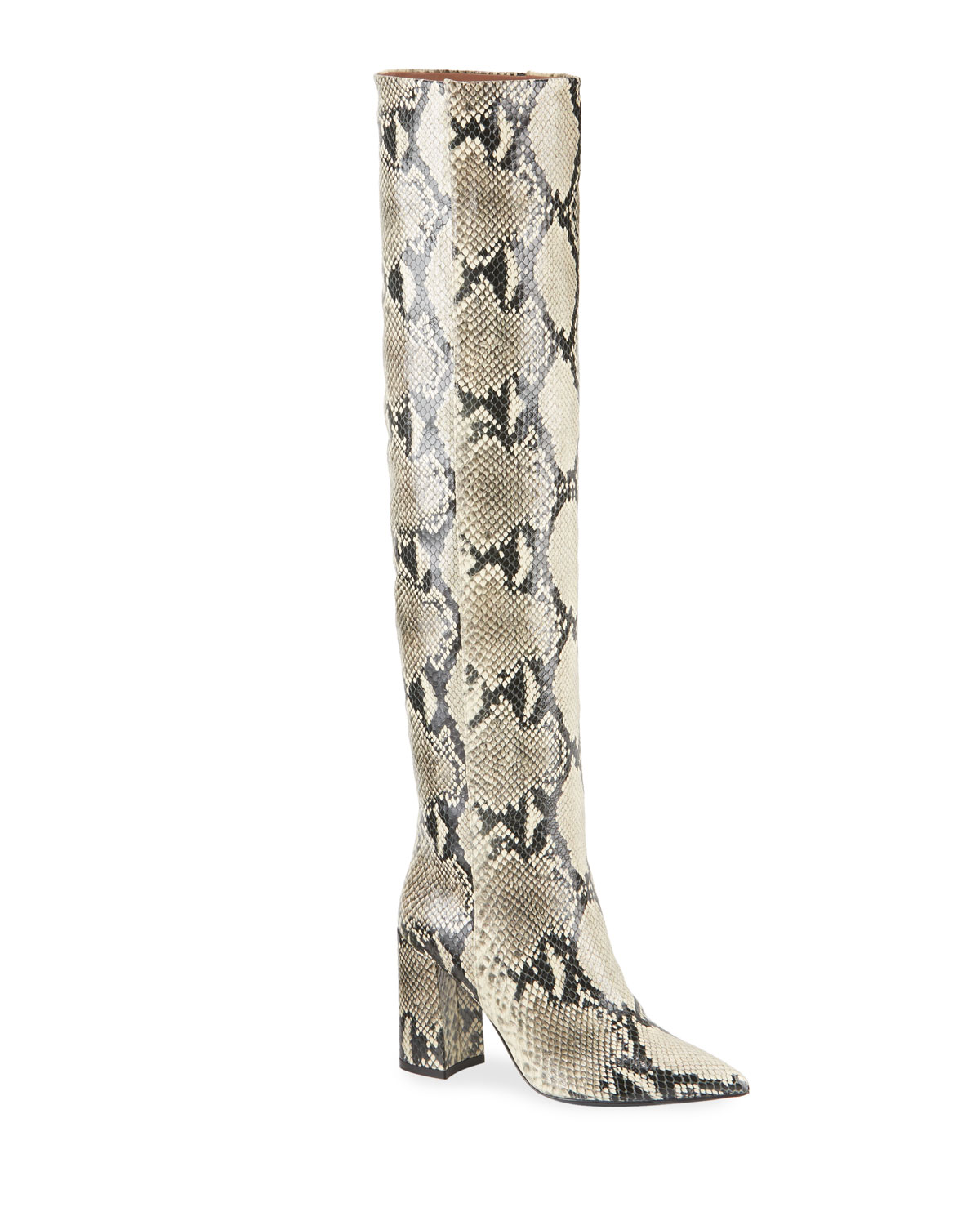 Tabitha Simmons Boots IZZY OVER-THE-KNEE PYTHON-PRINT BOOTS