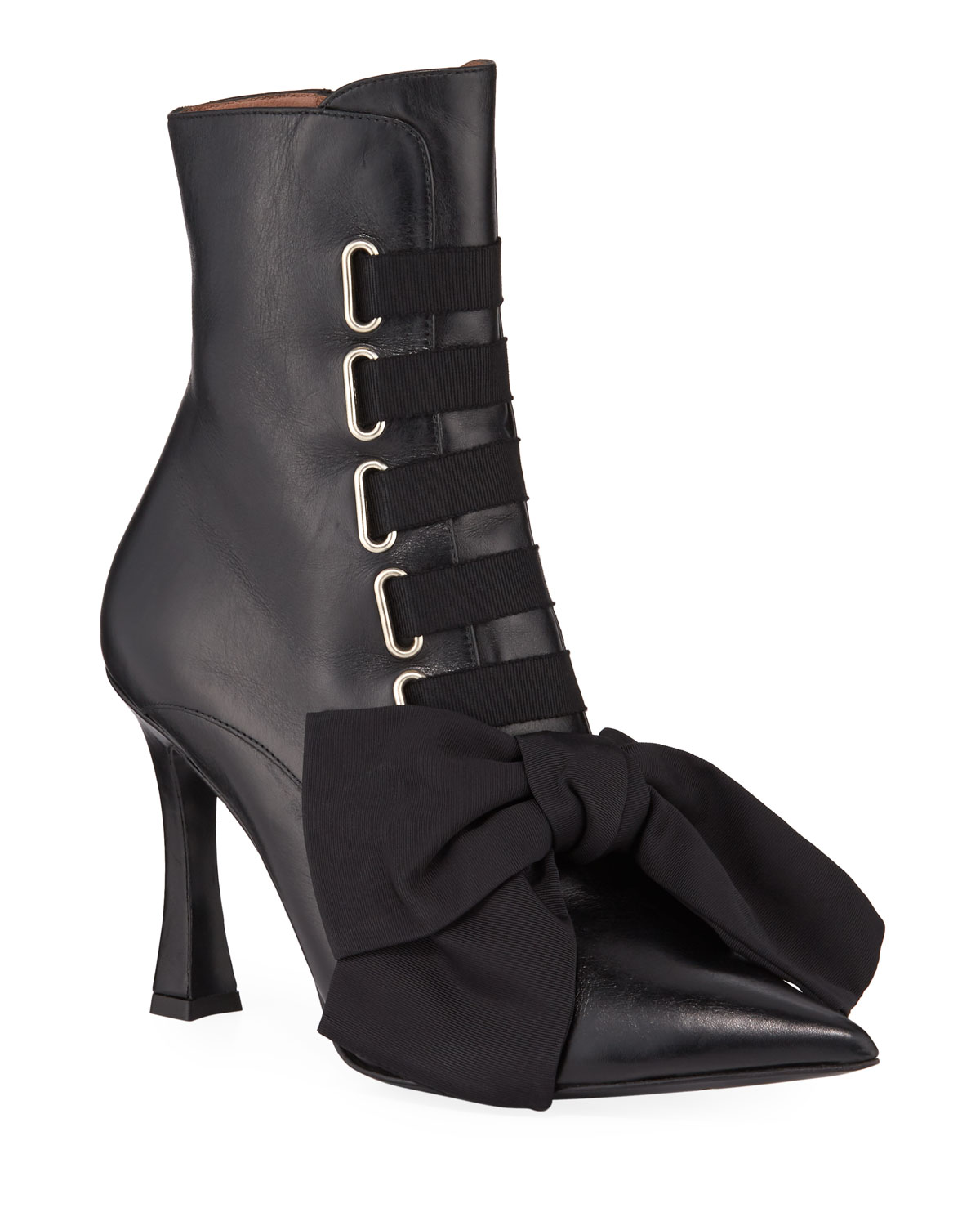 Tabitha Simmons Boots FARDEN LACE-UP BOW LEATHER BOOTIES