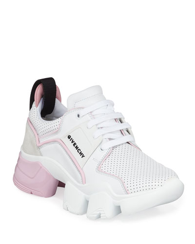 Jaw Low-Top Leather Sneakers, White